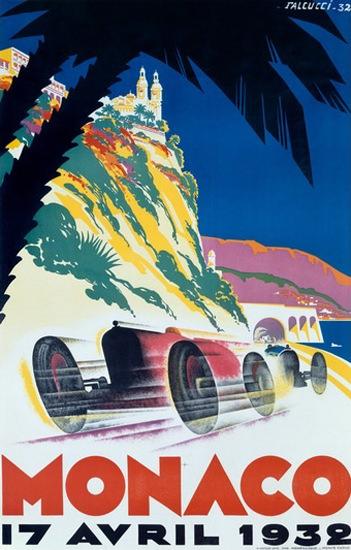 Grand Prix Monaco 1932 Robert Falcucci | Vintage Ad and Cover Art 1891-1970