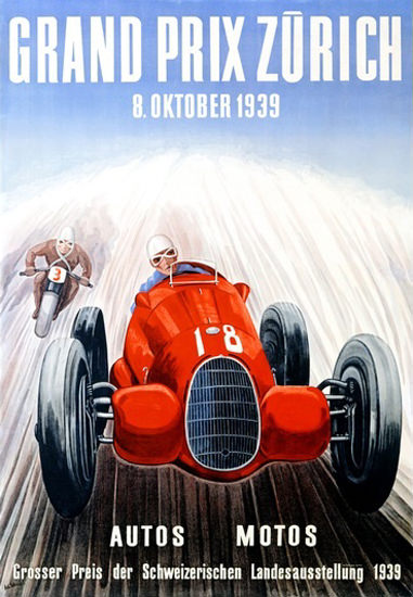 Grand Prix Zurich 1939 Landesausstellung | Vintage Ad and Cover Art 1891-1970