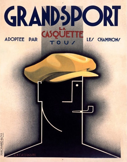 Grand Sport La Casquette 1931 Cassandre | Vintage Ad and Cover Art 1891-1970