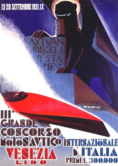 Grande Concorso Motonavtico Venezia 1931 | Vintage Ad and Cover Art 1891-1970