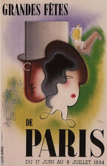 Grande Fetes Du Paris 1934 France Paris Festival | Vintage Ad and Cover Art 1891-1970