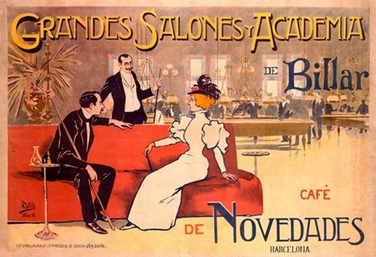 Grandes Salones Y Academia De Billar Barcelona | Sex Appeal Vintage Ads and Covers 1891-1970
