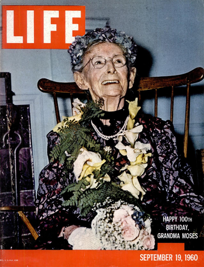 Grandma Moses Manchester VT 19 Sep 1960 Copyright Life Magazine | Life Magazine Color Photo Covers 1937-1970