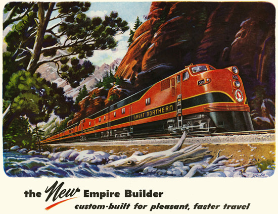 Great Northern The New Empire Builder 1940s | Vintage Travel Posters 1891-1970
