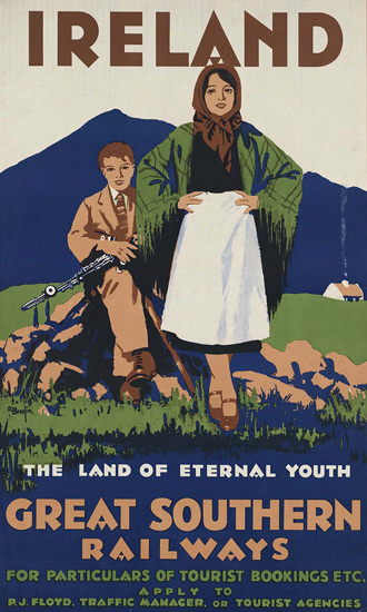 Great Southern Ireland Land Of Eternal Youth | Vintage Travel Posters 1891-1970