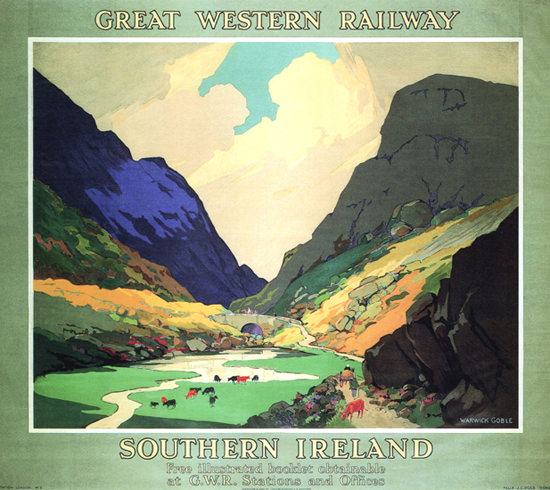 Great Western Railway Southern Ireland 1931 | Vintage Travel Posters 1891-1970