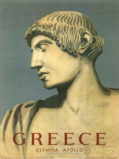 Greece Olympia Apollo | Vintage Travel Posters 1891-1970