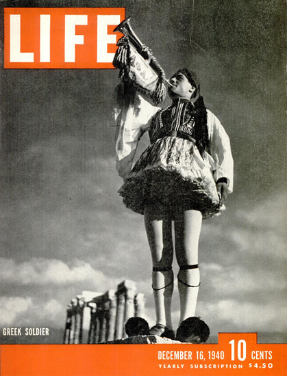Greek Soldier 16 Dec 1940 Copyright Life Magazine | Life Magazine BW Photo Covers 1936-1970