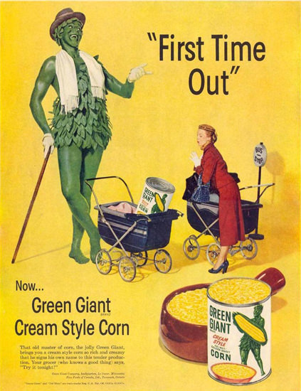 Green Giant Corn 1952 | Vintage Ad and Cover Art 1891-1970