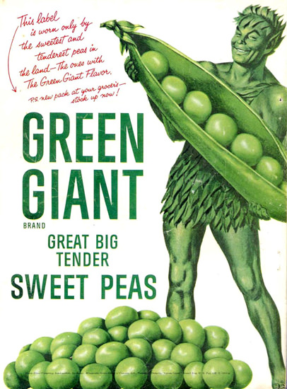 Green Giant Peas 1955 | Vintage Ad and Cover Art 1891-1970