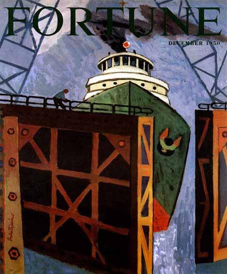 Gregorio Prestopino Fortune Magazine December 1950 Copyright | Fortune Magazine Graphic Art Covers 1930-1959