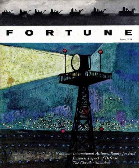 Gregorio Prestopino Fortune Magazine June 1958 Copyright | Fortune Magazine Graphic Art Covers 1930-1959