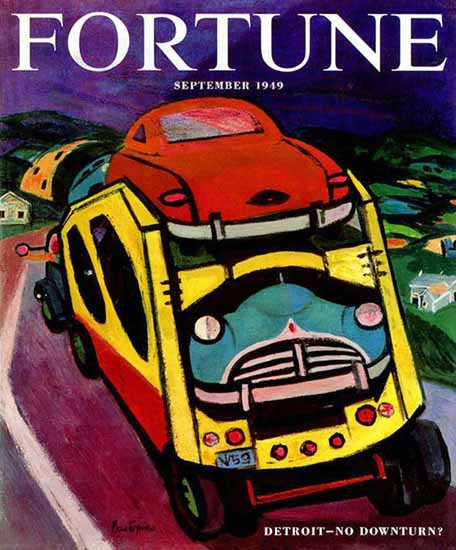 Gregorio Prestopino Fortune Magazine September 1949 Copyright | Fortune Magazine Graphic Art Covers 1930-1959