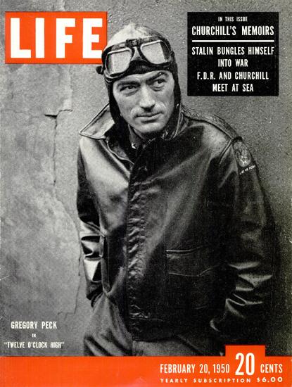 Gregory Peck in Twelve OClock High 20 Feb 1950 Copyright Life Magazine | Life Magazine BW Photo Covers 1936-1970