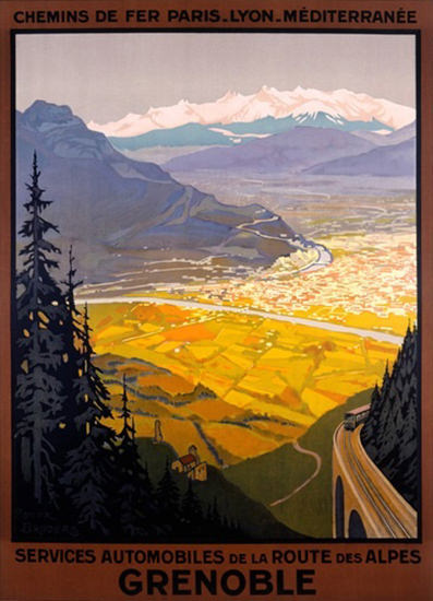 Grenoble Route Des Alpes Roger Broders | Vintage Travel Posters 1891-1970