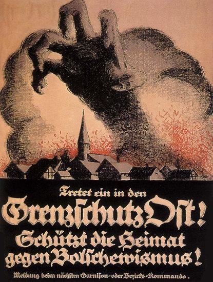 Grenzschutz Gegen Bolschewismus Bolshevism | Vintage War Propaganda Posters 1891-1970