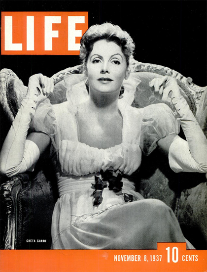 Greta Garbo 8 Nov 1937 Copyright Life Magazine | Life Magazine BW Photo Covers 1936-1970