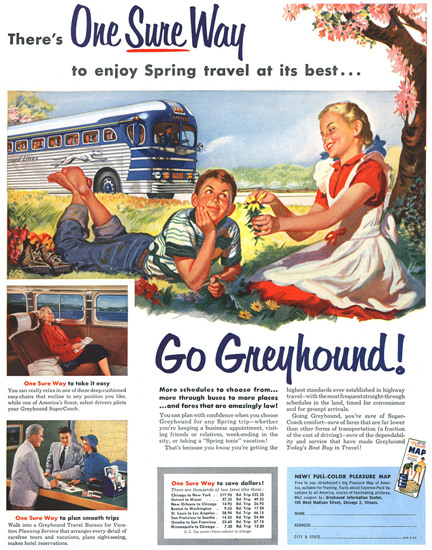 Greyhound Spring Kids 1953 | Vintage Travel Posters 1891-1970