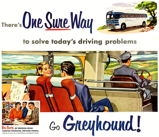 Greyhound The Couple 1953 | Vintage Travel Posters 1891-1970