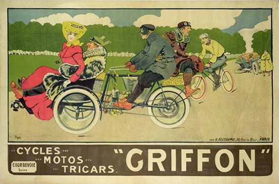 Griffon Courbevoie Cycles Motors Tricars | Sex Appeal Vintage Ads and Covers 1891-1970