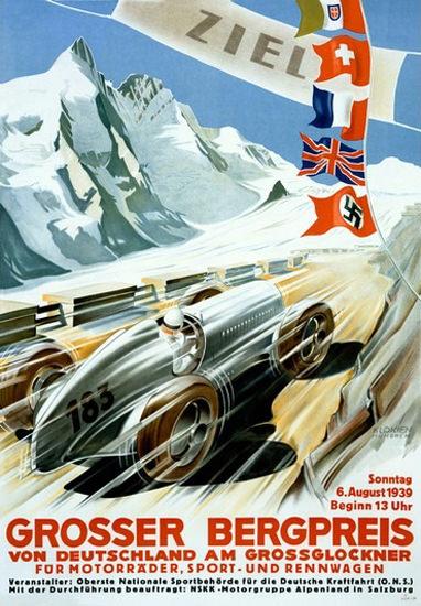 Grosser Bergpreis Grossglockner 1939 Germany | Vintage Ad and Cover Art 1891-1970