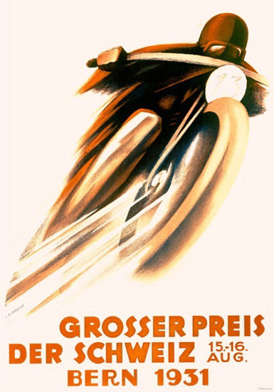 Grosser Preis Der Schweiz Bern 1931 Switzerland | Vintage Ad and Cover Art 1891-1970