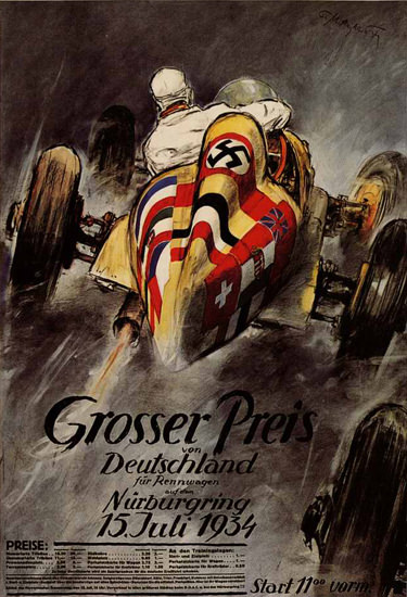 Grosser Preis Deutschland Nuerburgring 1934 | Vintage Ad and Cover Art 1891-1970