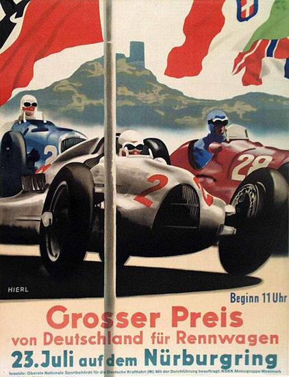 Grosser Preis Deutschland Nuerburgring 1936 | Vintage Ad and Cover Art 1891-1970
