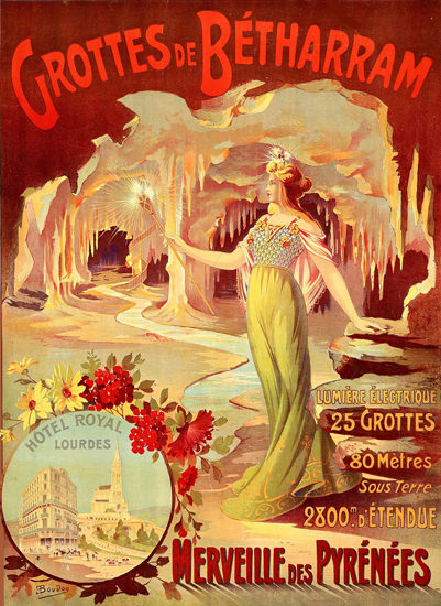 Grottes De Betharram Merveilles Pyrenees 1910 | Sex Appeal Vintage Ads and Covers 1891-1970