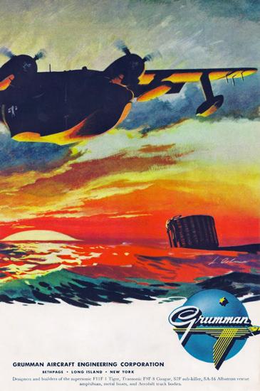 Grumman Aircraft 1956 | Vintage War Propaganda Posters 1891-1970