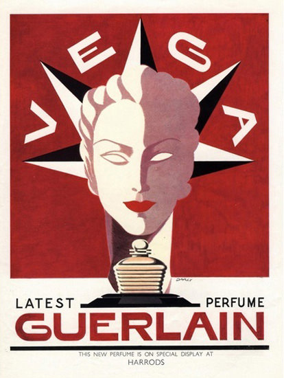Guerlain Perfumes Vega Harrods 1930s | Vintage Ad and Cover Art 1891-1970