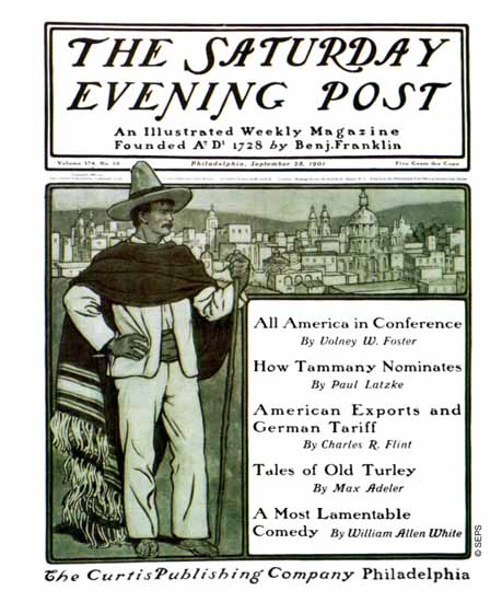 Guernsey Moore Cover Artist Saturday Evening Post 1901_09_28 | The Saturday Evening Post Graphic Art Covers 1892-1930