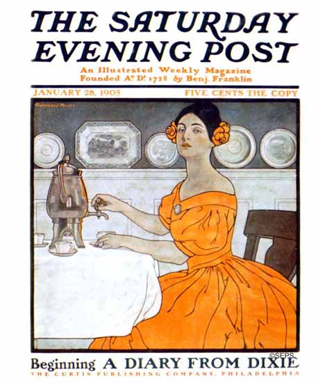 Guernsey Moore Cover Artist Saturday Evening Post 1905_01_28 | The Saturday Evening Post Graphic Art Covers 1892-1930
