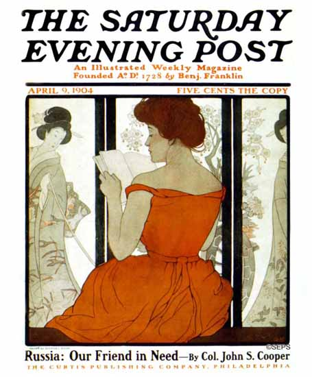 Guernsey Moore Saturday Evening Post 1904_04_09 | The Saturday Evening Post Graphic Art Covers 1892-1930