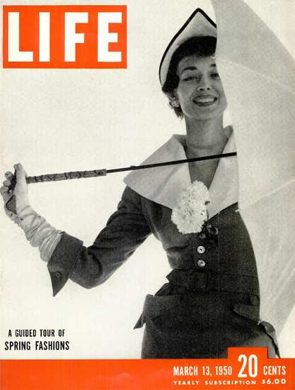 Guide Tour of Spring Fashions 13 Mar 1950 Copyright Life Magazine | Life Magazine BW Photo Covers 1936-1970