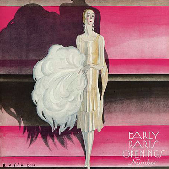 Guillermo Bolin Vogue Cover 1925-10-01 Copyright crop | Best of 1920s Ad and Cover Art