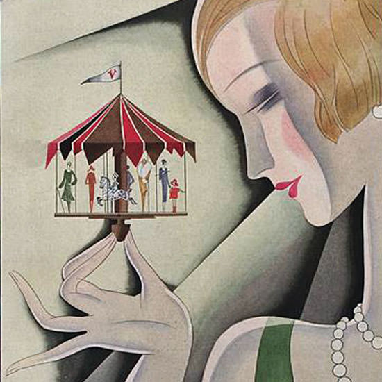 Guillermo Bolin Vogue Cover 1926-10-01 Copyright crop | Best of 1920s Ad and Cover Art