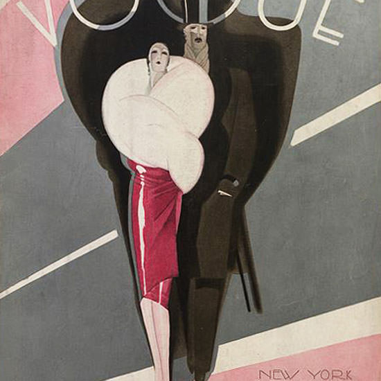 Guillermo Bolin Vogue Cover 1926-11-01 Copyright crop | Best of 1920s Ad and Cover Art