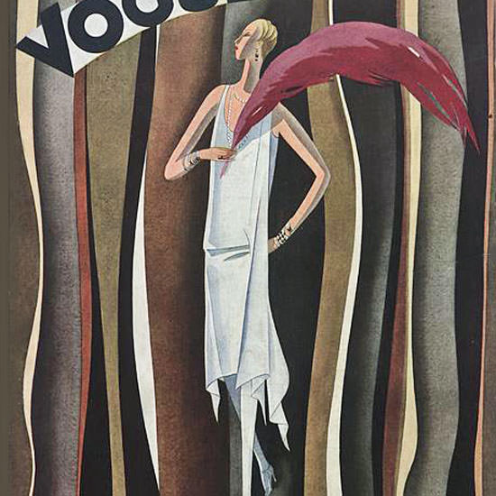 Guillermo Bolin Vogue Cover 1927-11-01 Copyright crop | Best of 1920s Ad and Cover Art