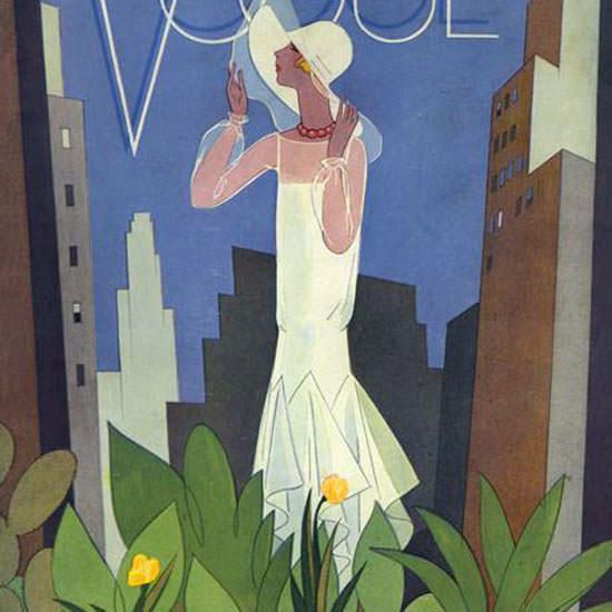 Guillermo Bolin Vogue Cover 1928-06-01 Copyright crop | Best of 1920s Ad and Cover Art