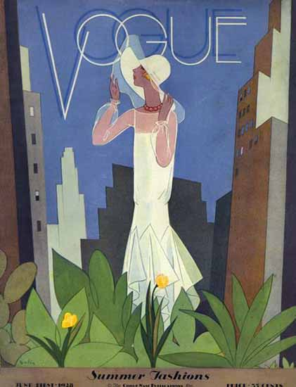 Guillermo Bolin Vogue Cover 1928-06-01 Copyright | Vogue Magazine Graphic Art Covers 1902-1958