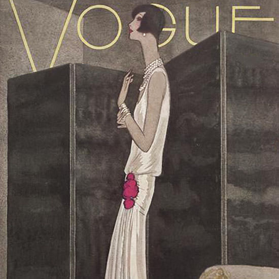 Guillermo Bolin Vogue Cover 1928-11-10 Copyright crop | Best of 1920s Ad and Cover Art