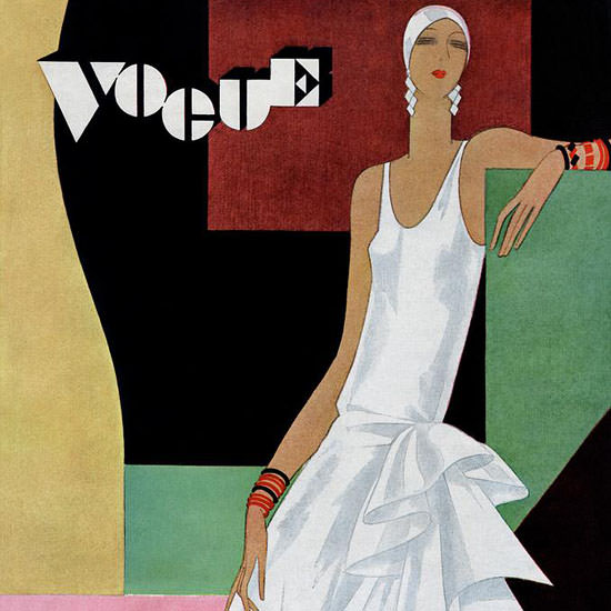 Guillermo Bolin Vogue Cover 1929-06-08 Copyright crop | Best of Vintage Cover Art 1900-1970