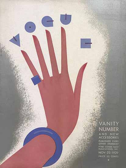 Guillermo Bolin Vogue Cover 1929-11-23 Copyright | Vogue Magazine Graphic Art Covers 1902-1958