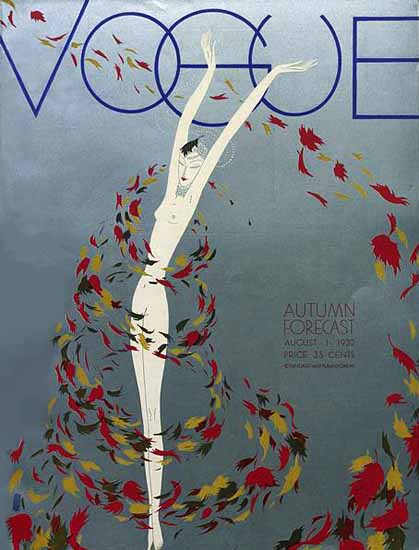 Guillermo Bolin Vogue Cover 1932-08-01 Copyright | Vogue Magazine Graphic Art Covers 1902-1958