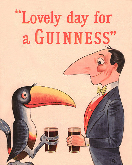 Guinnes Lovely Day For A Guinness 1954 | Vintage Ad and Cover Art 1891-1970