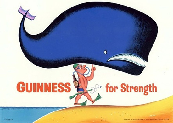 Guinness For Strength 1960s Whale | Vintage Ad and Cover Art 1891-1970