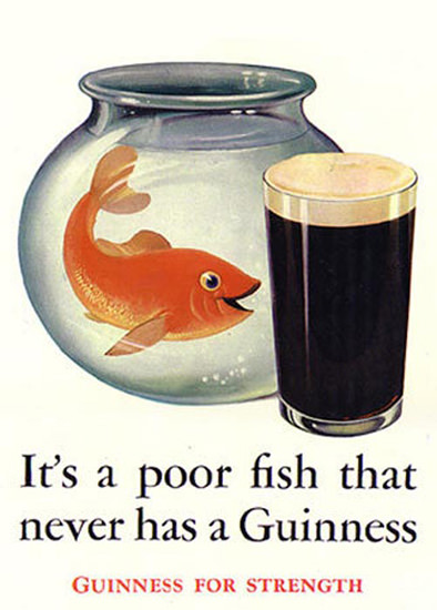 Guinness Goldfish 1936 | Vintage Ad and Cover Art 1891-1970