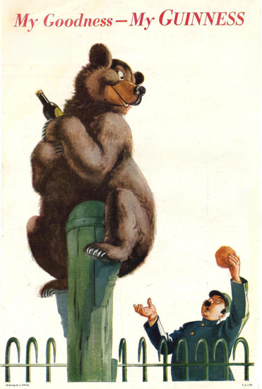 Guinness My Goodness Bear 1944 | Vintage Ad and Cover Art 1891-1970