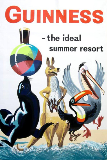 Guinness The Ideal Summer Resort 1961   Vintage Ad and Cover Art 1891-1970